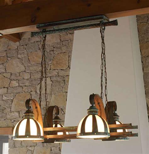 lampara techo armada rustica blog de artesania  decoracion