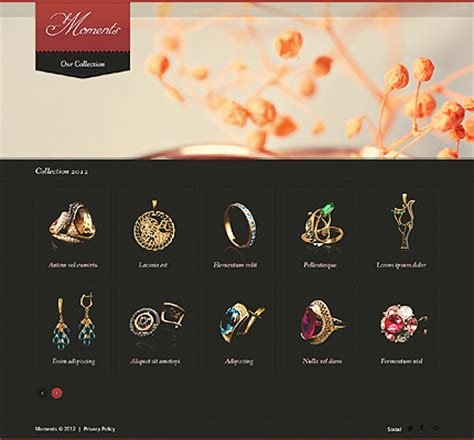 Jewelry Website Template 38901 Jewelry Catalog Template