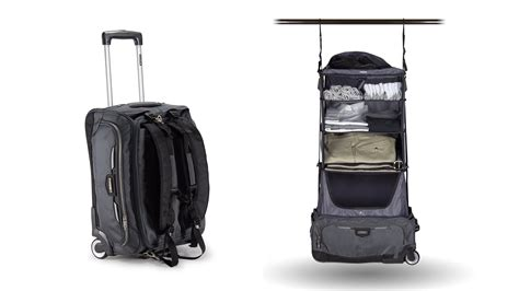 glider rolling carry on bag with collapsible shelves and