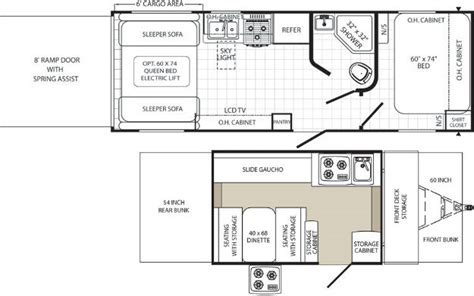 Evergreen Rv Floor Plans by Palamino Toy Hauler Floor Plans Pop Up Campers