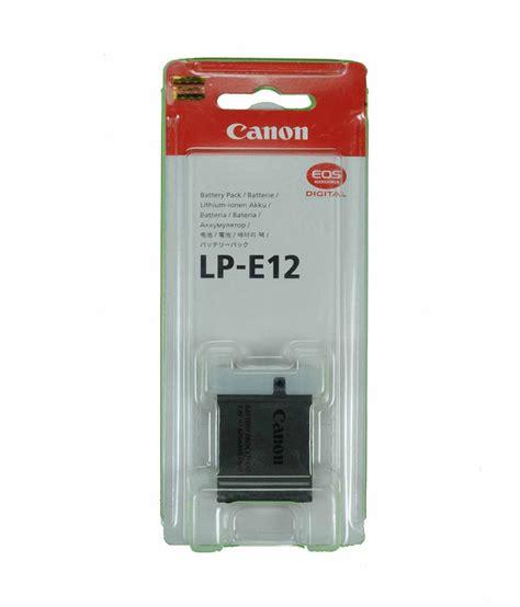 Baterai Canon Lp E12 canon eos rebel sl1 eos m model lp e12 with 875 mah