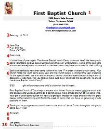 Free Church Letter Templates Donation Request Letter Sample