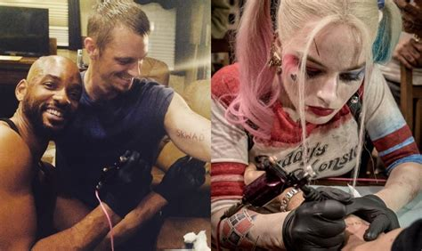 did margot robbie tattoo her suicide squad director on will smith and margot robbie tattoo suicide squad cast and