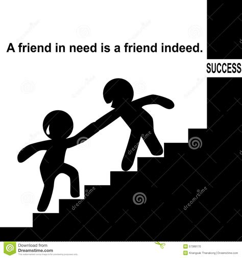 A Friend In Need Is A Friend Indeed Sle Essay by Proverb A Friend In Need Is A Friend Indeed Stock Illustration Illustration Of