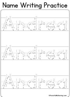 Writing Name Template by Custom Name Tracing Worksheets Motor
