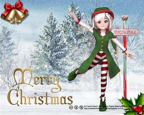 christmas wallpaper elves christmas elf wallpaper ultimate free desktop wallpaper