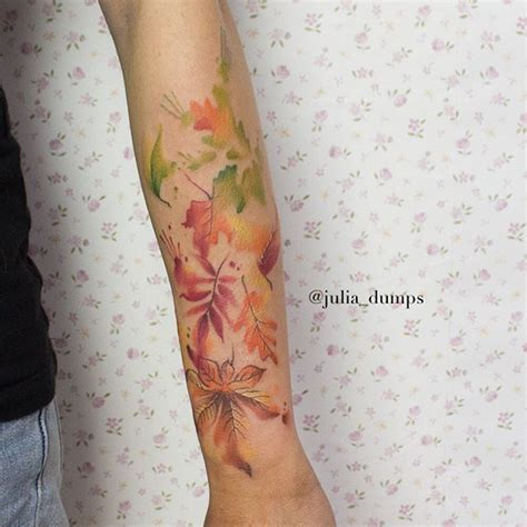 watercolor tattoo leaves best 25 autumn ideas only on