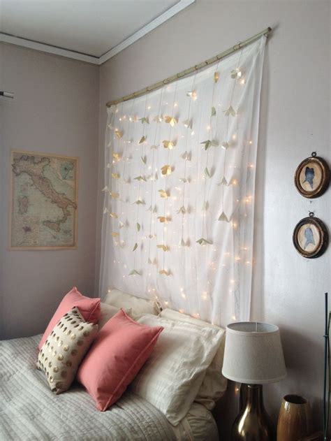 hanging christmas tree lights vertically christmas tree light headboard gt hang a curtain rod with