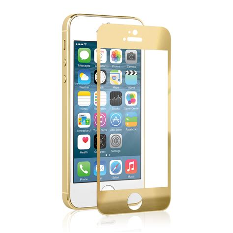 Tempered Glass Iphone 5 Motif Depan Belakang naztech tempered glass gold iphone 5 screen protector