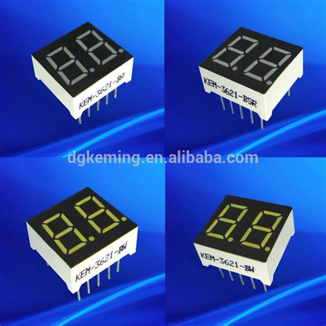 3mm Two Color Green Led Common High Quality Cheap Color Module kem 3621 bw 7 segment led display two digit 0 36 inch with