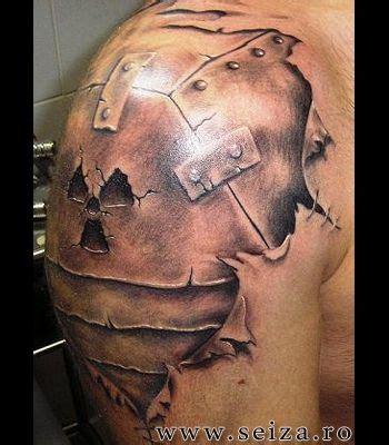 3d shoulder tattoo 3d on the shoulder armoured shoulder this image