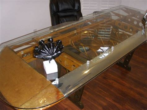 boat propeller table turning old propellers and aircraft parts into furniture
