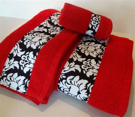 red and black damask bath towels bathroom towels bath