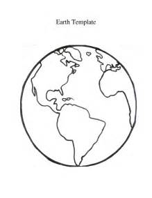 Of Big Earth Template  Coloring Page Printable Globe sketch template