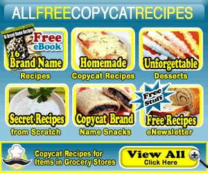 free copycat recipe book 16 brand name recipes