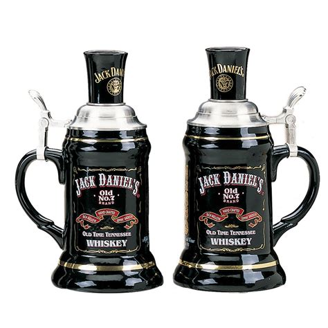 jack daniels barware jack daniels 174 stoneware stein set 127923 barware at sportsman s guide