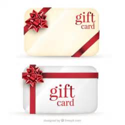 gift cards pack vector free