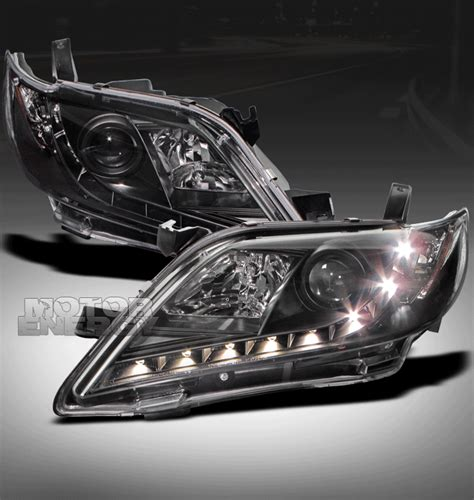Toyota Camry 2008 Headlights 2007 2008 2009 Toyota Camry Drl Led Black Projector