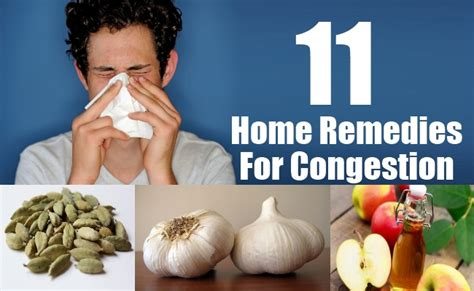 11 home remedies for congestion treatments