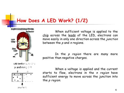 how do led lights work light emmitting diode