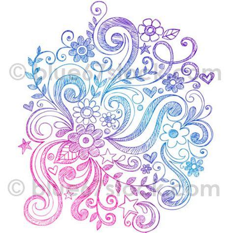 doodle flower vector illustration sketchy flowers and swirls doodle vector illust