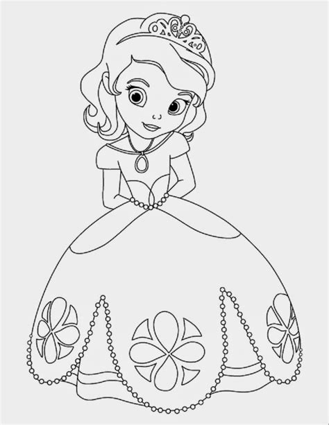 Printable Princess Sofia Disney Coloring Pages