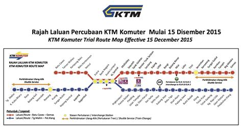 Ktm Route Ktm Komuter Announces Six Month Reroute Trial From Dec 15