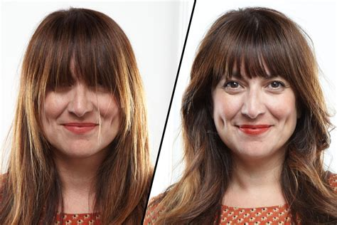 how to trim bangs at home without screwing up the cut