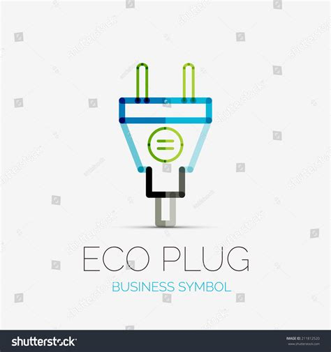 vector eco company logo design business symbol