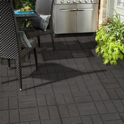24 in x 24 in xl brick black rubber paver 40 pack