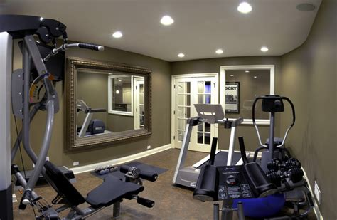 Home Workout Studio Design jim amp gina s basement traditional home gym chicago
