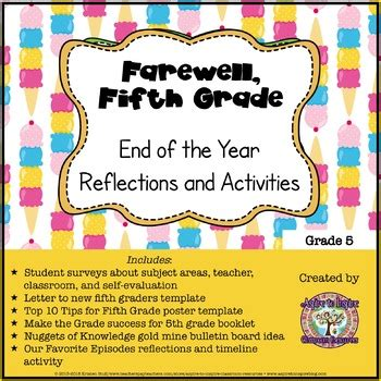Farewell Fifth Grade End Of The Year Reflections And