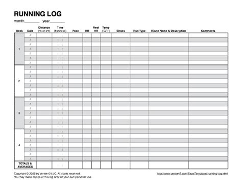 running log template printable running calendar calendar template 2016
