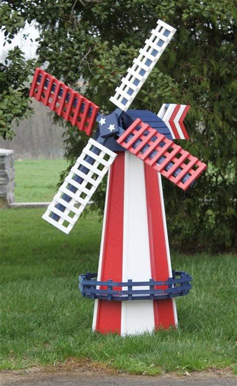 amish poly wood two tone windmill with swivel large