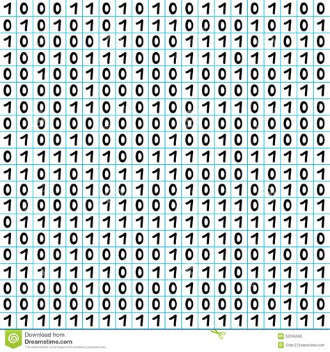 binary number pattern in c binary code pattern stock vector image 52245580