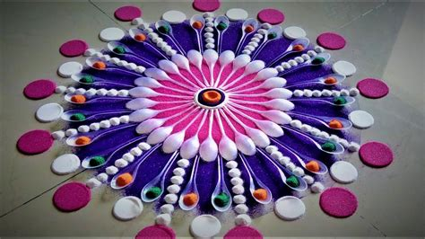 Home Decoration On Diwali Innovative And Beautiful Rangoli Designs Using Spoons