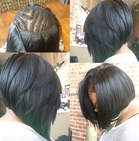 haircut beechnut houston yes to this bob install by styles 4 usalon black hair