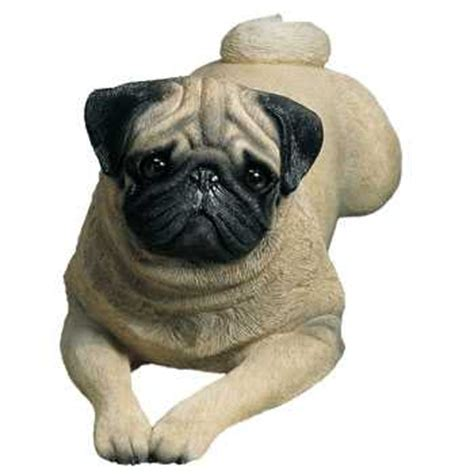 pug figurine pug figurine statue lifesize lying pose sandicast 174 at animal world 174