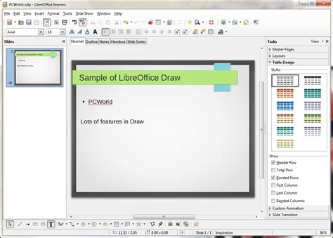 Software Reviews Review Libreoffice 4 Liberates You From Microsoft Office Libreoffice Presentation Templates