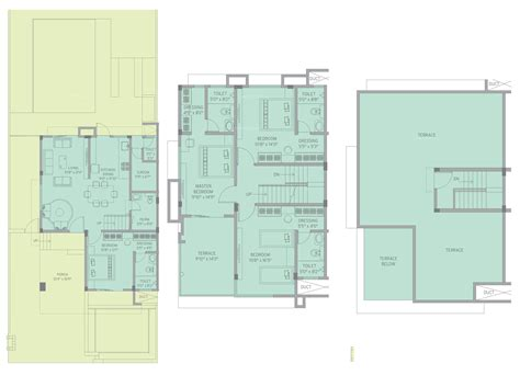 twin bungalow floor plans in india 1650 sq ft 4 bhk 5t villa for sale in kolte patil