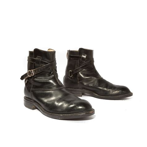 mens motorcycle ankle boots vintage s ankle boots wrap around and buckle