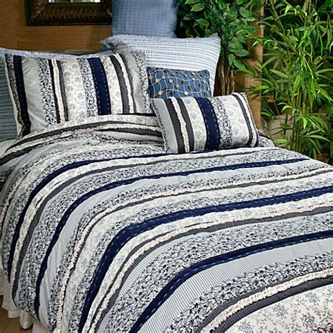 b smith bedding park b smith 174 napa denim quilt set bedbathandbeyond com