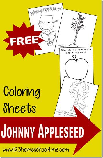 johnny appleseed coloring pages johnny appleseed