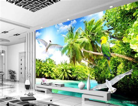 room wallpaper custom photo mural outdoor beach coconut