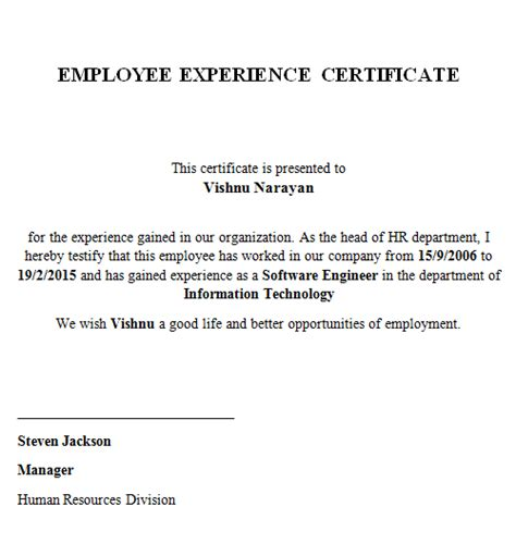 pattern maker salary in india experience certificate