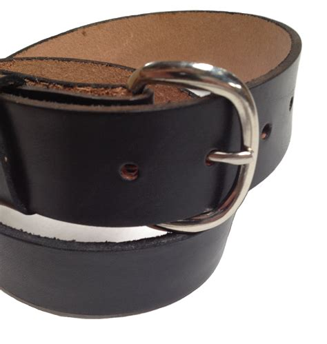 Handmade Mens Belts - handmade mens leather belt 1 5 quot wide brown or black
