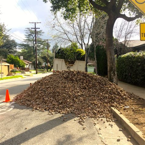 Landscape Rock Cubic Yard Calculator 12 Cubic Yards Of Rock It Took A To Spread All