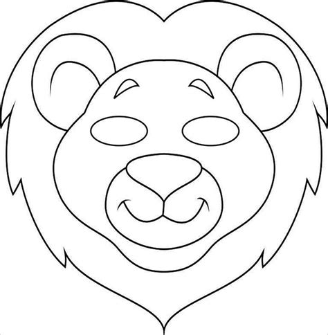 animal mask templates animal mask template animal templates free premium