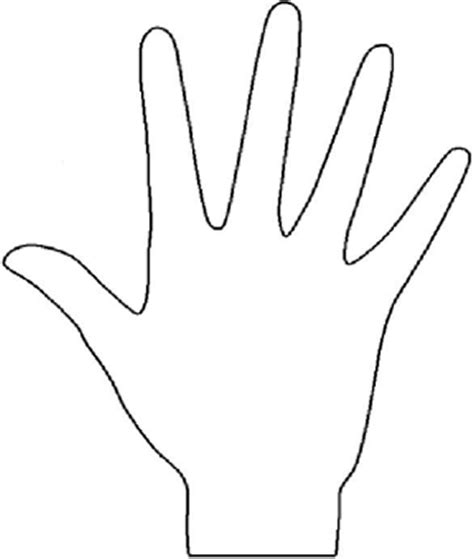 hand outline template printable clipart best