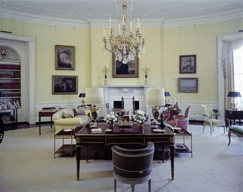 yellow oval office kn c21423 yellow oval room in the white house john f
